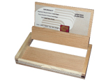 Wooden visiting card case